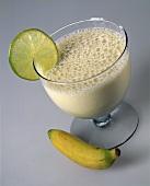 Banana yoghurt drink