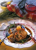 Braised loin of veal with shallots & rosemary