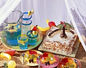 Children's jungle party: punch, jelly, cake