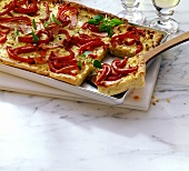 Pepper and sauerkraut tart
