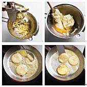 Making potato beignets