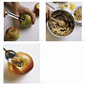 Preparing baked apples