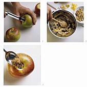 Preparing baked apples