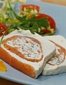 Salmon terrine with cream cheese
