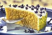 A piece of lavender torte