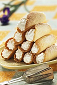 Cream-filled pastry rolls