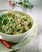 Guacamole (avocado mousse) with finely diced chili