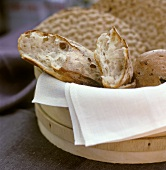 Bread basket with various types of Swedish bread