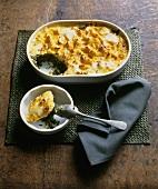 Savoy and potato casserole