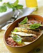 Crespelle alla fiorentina (crepes with ricotta & spinach)