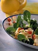 Corn salad with apple and pine nuts