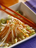 Asian radish and carrot salad with soya bean sprouts