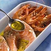Marinating fish and seafood