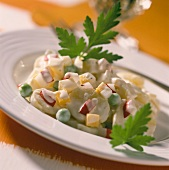 Potato salad with yoghurt dressing