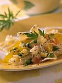 Farfalle alla verdura (Farfalle with five vegetables, Italy)