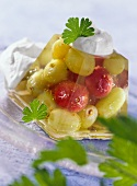 Grape and gooseberry jelly