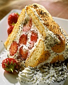 Strawberry charlotte with poppy seeds