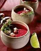 Red Beet-Cream Soup