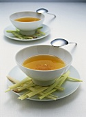 Chicken consomme with lemon grass