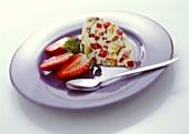 Cassata con le fragole (Semi-frozen dessert with strawberries, Italy)