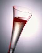 Kir Royal in champagne flute