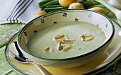 Potato soup with truffles