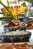 Brazilian cuttlefish stew (Moqueca de Lula) with rice