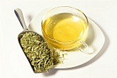 Oat straw tea and dried herb (Avena sativa)