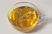 Camomile tea with dried flowers