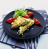 Frittata with potatoes and courgettes
