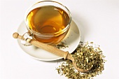 Echinacea tea and dried herb (Echinacea purpurea)
