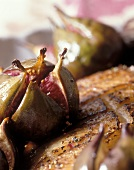 Roast duck breast with honeyed figs