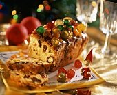 Christmas cake with candied fruits
