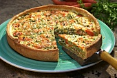 Vegetable quiche with parsley