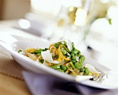 Tagliatelle ai legumi (Tagliatelle with peas & beans)
