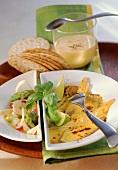 Gratiniertes Thunfischfilet mit Artischocken-Spargel-Salat