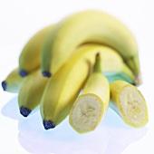 Bunch of bananas and two bananas