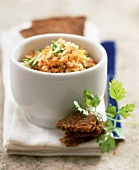 Millet spread in bowl