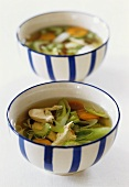 Chicken broth with vegetables