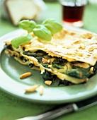 Spinach lasagne, Florentine style