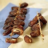 Dried dates on the stalk