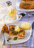 Chicken Cordon Bleu with spinach & gorgonzola stuffing