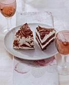 Tiramisu quark cake