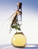 A bottle of herb liqueur