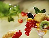 Ice Cream Sundae with Fruit