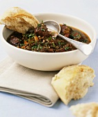 Lentil stew with beef