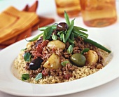 Couscous with minced lamb and vegetables