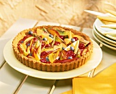 Nectarine and berry tart