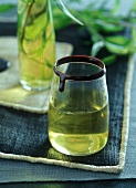 Lemon grass tea with chocolate rim