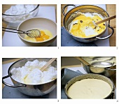 Preparing cheesecake (without base)